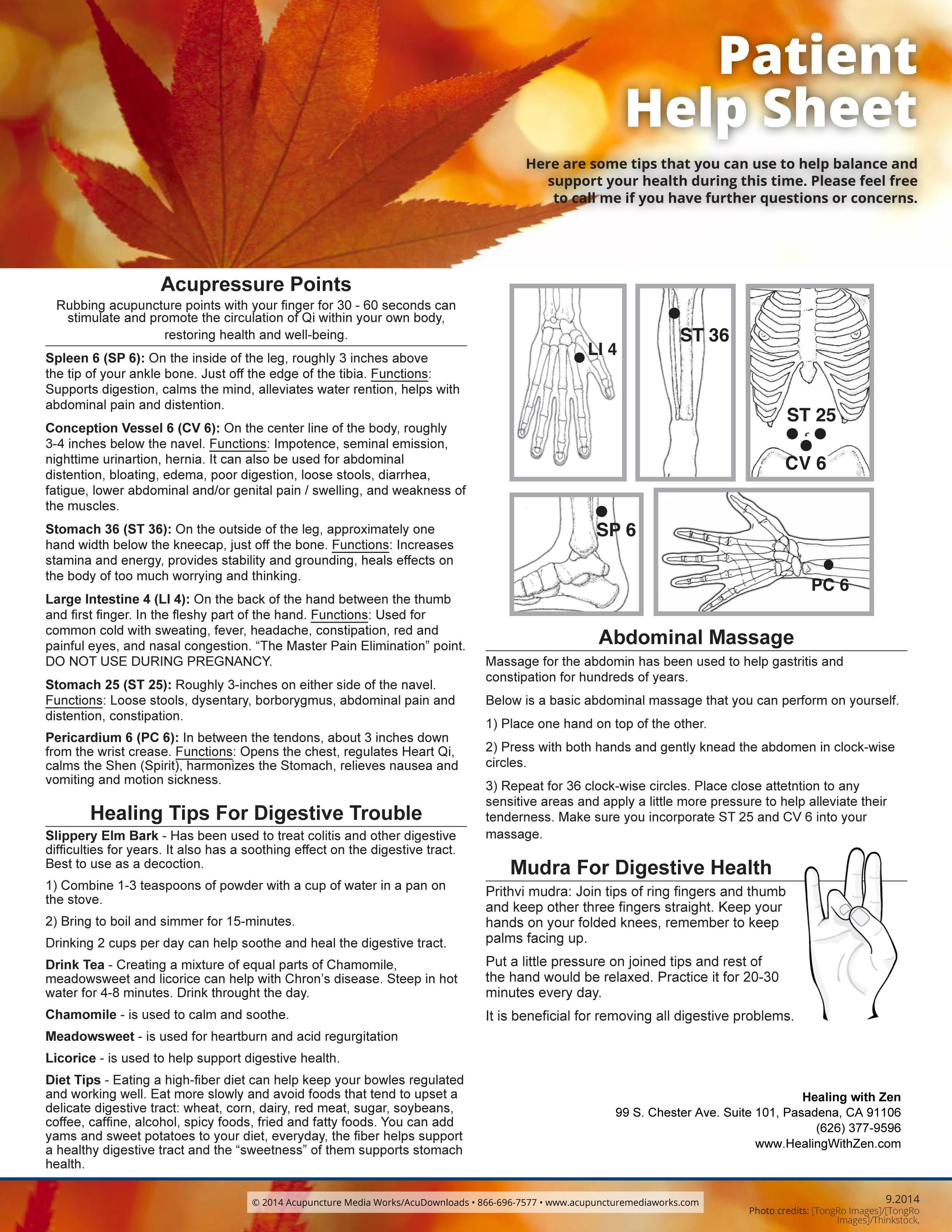 Help Sheet: Spleen & Digestive Health - Healing with Zen ...