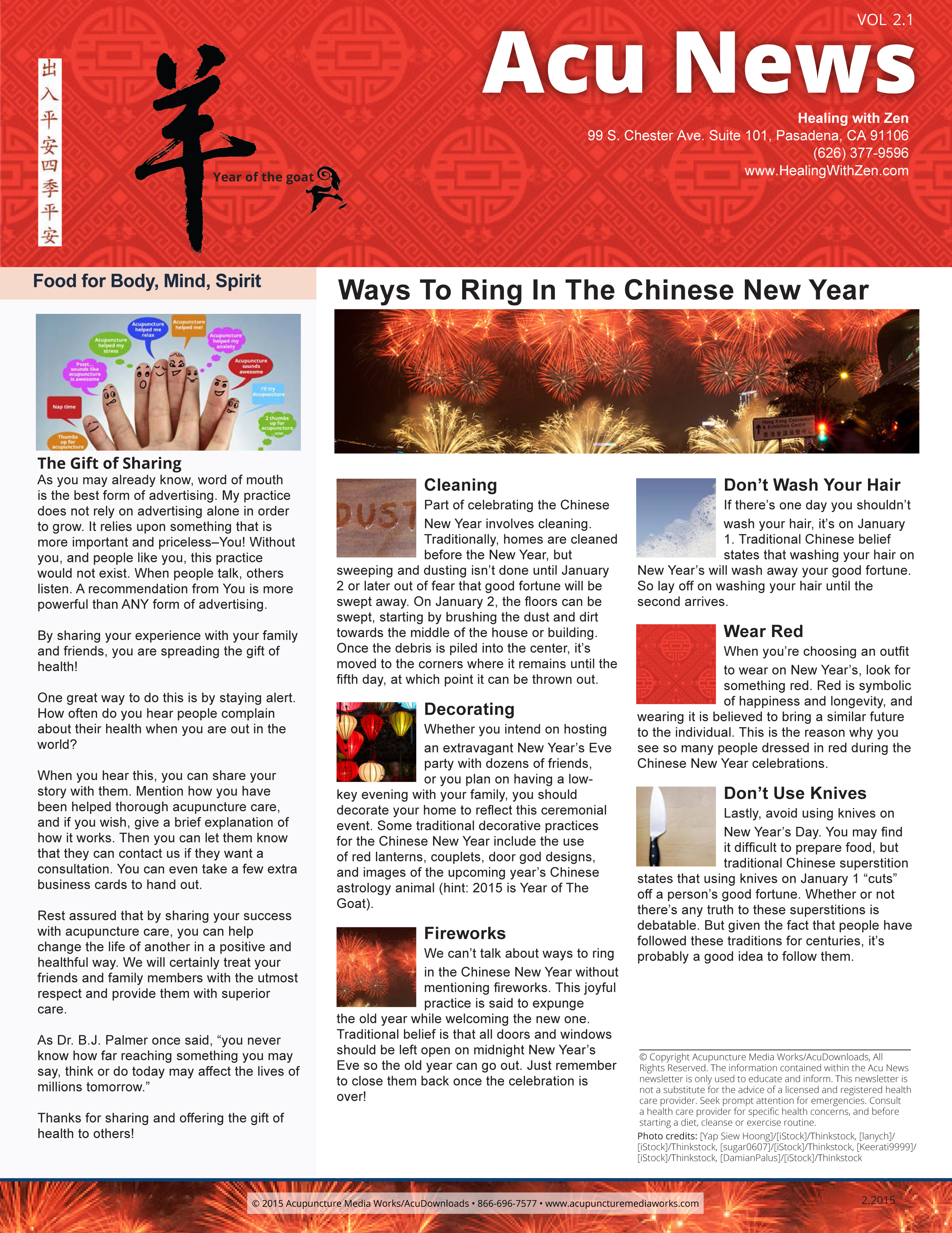 Ways To Ring In The Chinese New Year - Healing with Zen