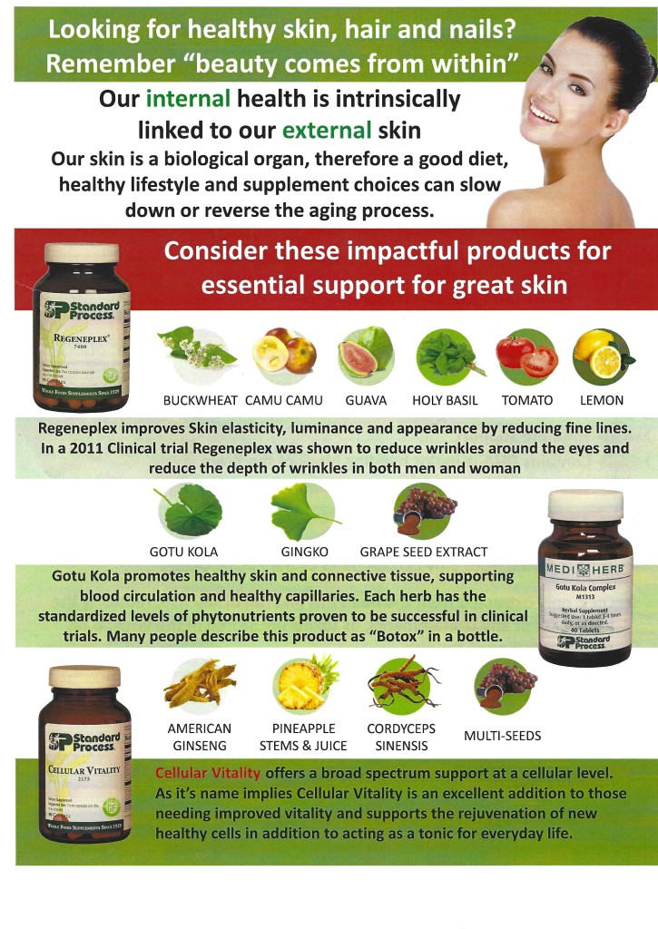 Three wholefood skin supplements available for order at Healing with Zen Pasadena